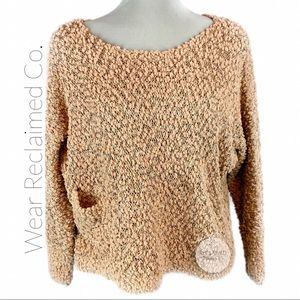 QED LONDON Sequin Open-knit Sweater